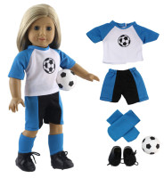 Lot 5 PCS New Style Fashion High Quality Football Suit Outfit For 18 Inch American Girl
