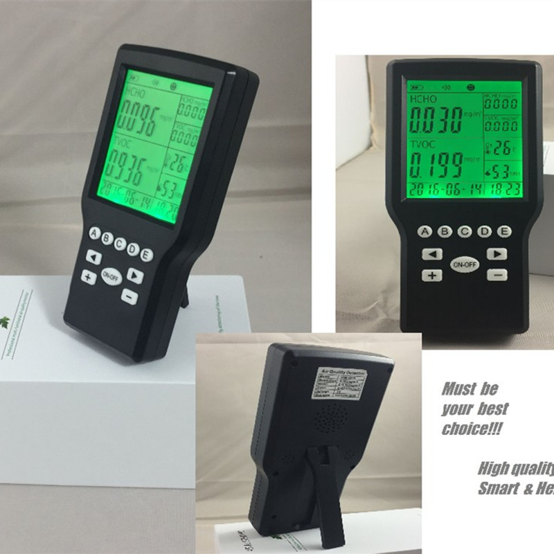 Free shipping formaldehyde detector Formaldehyde and TVOC Detector /Air Quality detector  from OHMEKA
