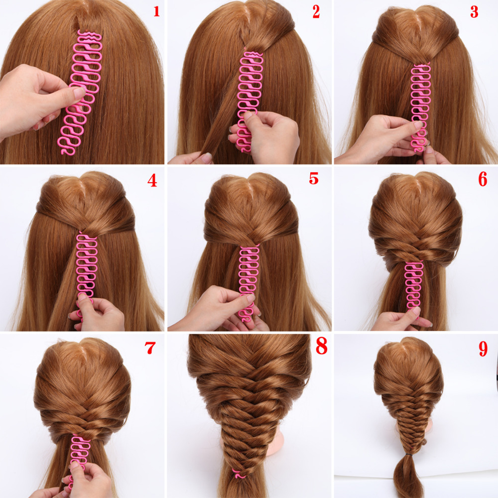 3 Colors French Hair Braiding Tool Centipede Braider Roller Hook