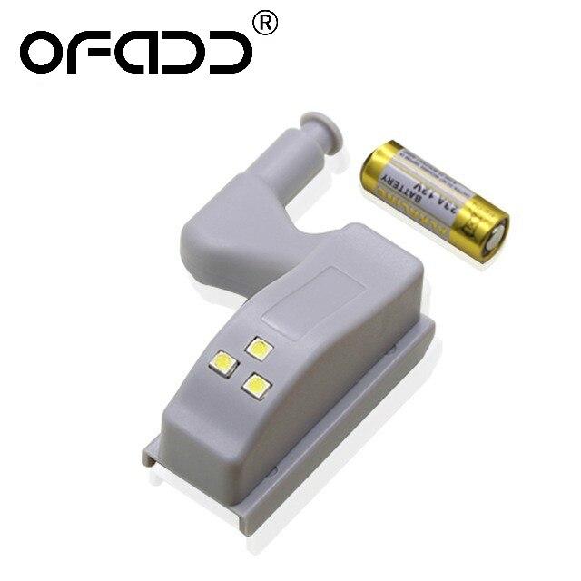 Ofadd Led Under Cabinet Light Universal Wardrobe Light Sensor Led Armario With Battery Night Lamp For Kitchen Cupboard Closet