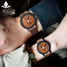 2016 New Arrival Japanese Movement Casual Wood Color Wristwatch Vintage Leather Strap Bamboo Wooden Watches For Men Women Watch