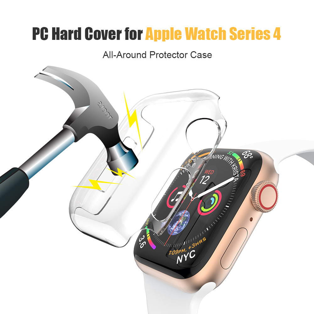 Transparent Screen Protector Case for Apple Watch Series 4 40mm 44mm Ultra-thin Frame All-Around Cover For Apple Watch PC Case