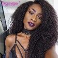 8A Best Kinky Curly Human Hair Lace Front Wigs Black Women Glueless Virgin Peruvian Human Hair 13*6 Deep Part Lace Front Wigs