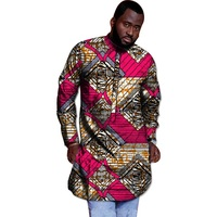 Fashion Man's Tops African Men T Shirt Africa Festive Pattern Long Sleeve TShirt Customized Africa Print Tops For Men Clothes