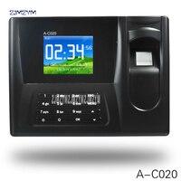 Realand A-C020 biométrico fingerprint time clock recorder comparecimento empregado eletrônico inglês punch reader máquina 12 v tensão