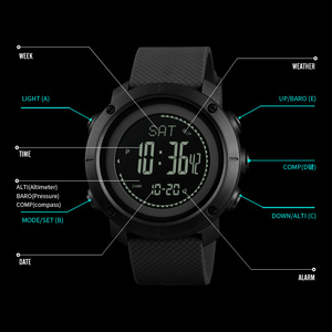 Image 2 - SKMEI Outdoor Sports Watches Fashion Compass Altimeter Barometer Thermometer Digital Watch Men Hiking Wristwatches relogio