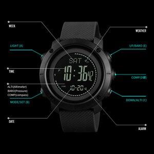 Image 2 - SKMEI חיצוני ספורט שעונים אופנה מצפן מד גובה ברומטר מדחום דיגיטלי שעון גברים טיולים שעוני יד relogio