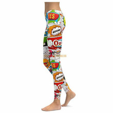 COMIC BOOK SUPER HERO LEGGINGS 2017 New Compression Women Pants Fashion 3D Print Straight Elastic Waistband
