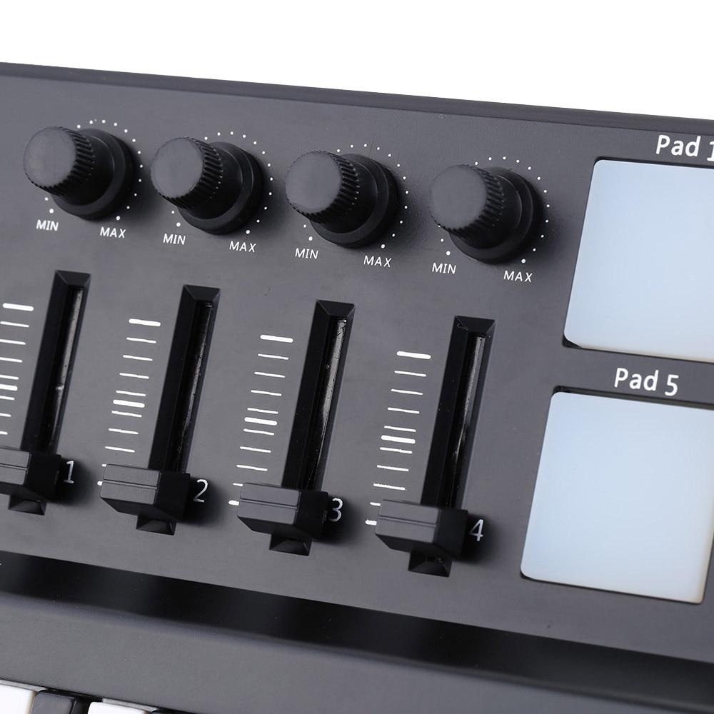 Image 4 - Worlde Panda MIDI Keyboard 25mini Portable Mini 25 Key USB  Keyboard and Drum Pad MIDI ControllerElectronic Organ