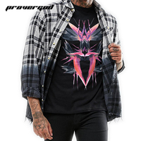 PROVERGOD Fashion Brand Clothing Short Sleeve T Shirt Men Classic Birds Pattern Printed Tees Vetement Homme