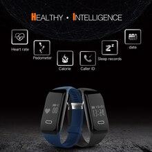 Лидер продаж H2 Smart Браслет Спорт Монитор сердечного ритма шагомер сна калории, фитнес-трекер smartband для iOS и Android