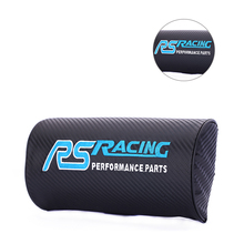 Carbon fiber style soft Neck Pillow Car styling for RS Racing TOYOTA COROLLA Camry LEVIN Reiz bmw ford TIERRA seat Accessories trd carbon fiber 3d racing metal sticker car emblem badge decal for toyota crown reiz corolla camry vios car styling accessories