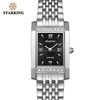 Starking Fashion Casual Women Dress Watch Top Brand Luxury 2018 Ladies Watch With Rhinestones Relogio Feminino Retangular Clock