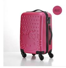 Women Travel  Luggage Case suitcase Hello Kitty Travel Rolling Case On Wheels 20″ 24″ Inch Travel Luggage Suitcase trolley bag