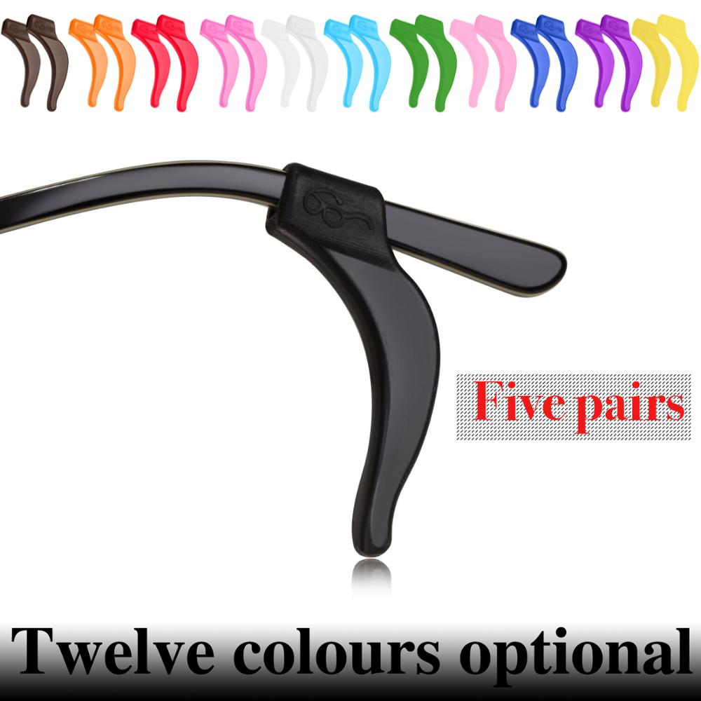 5 Pairs Solid Colour Silicone Anti-slip Eyeglasses Holder For Children Sunglasses Or Reading Glasses Ear Grip Hooks    12 Colors