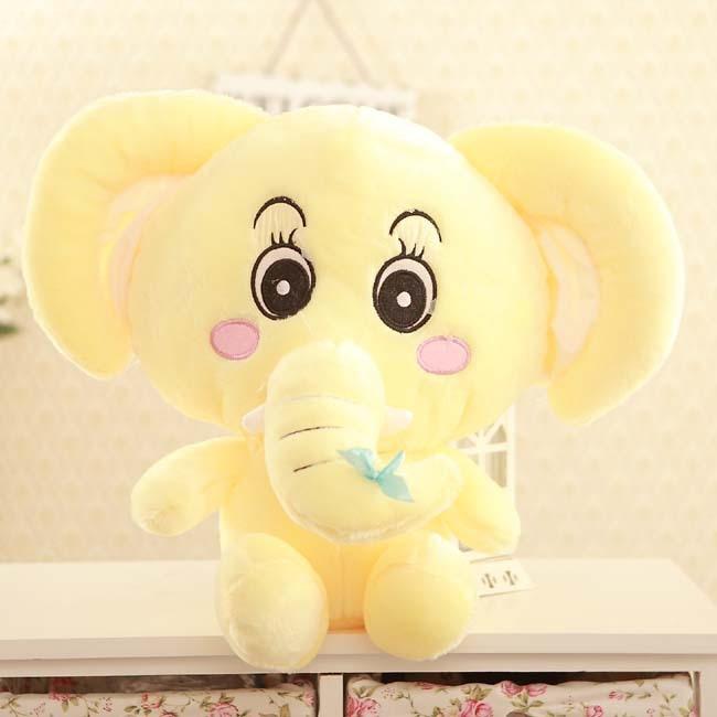 43e9588f3 لطيف الإبداعية الفيل لعبة القطيفة الأصفر الكرتون الفيل هدية دمية حوالي 40  سنتيمتر 0220