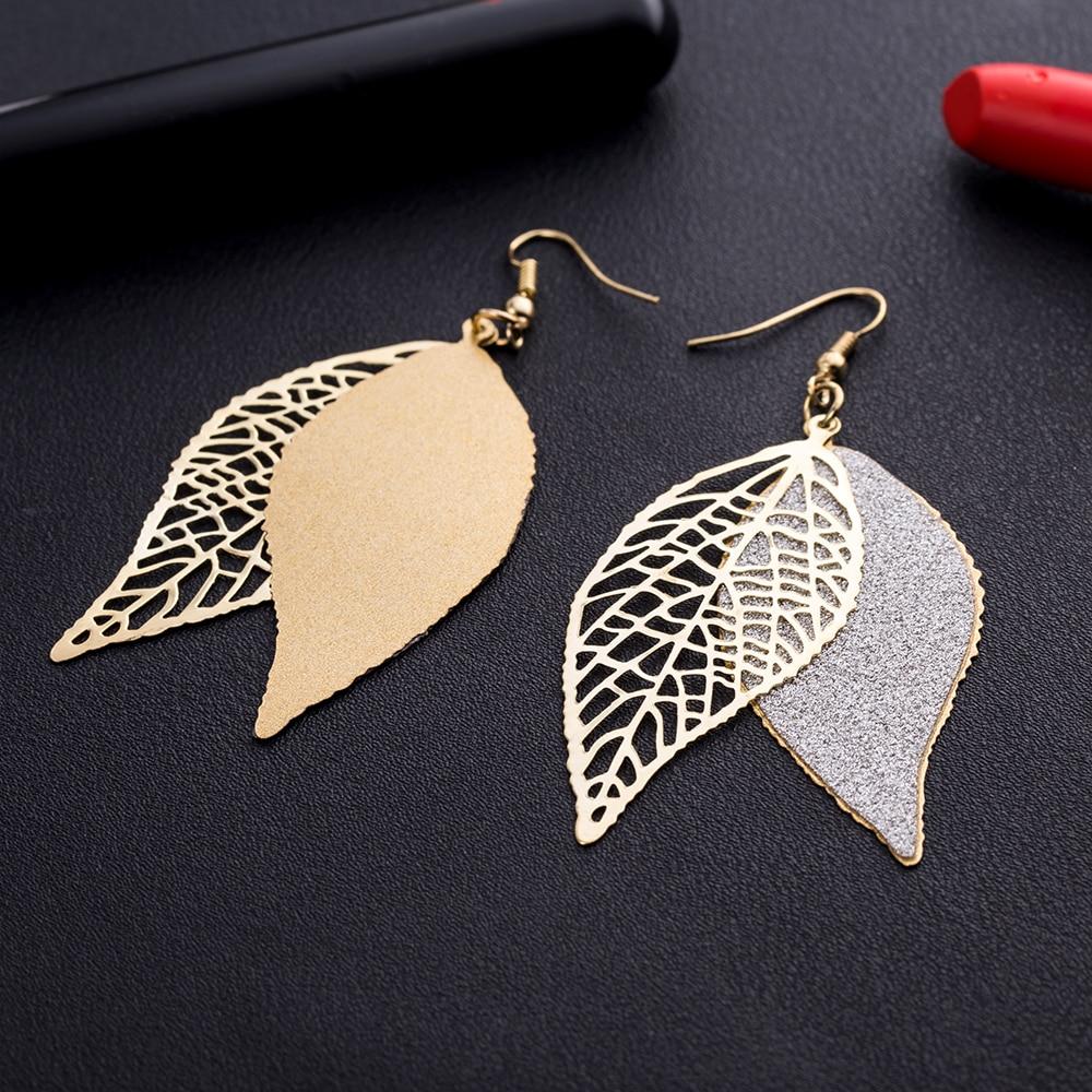 KISSWIFE personality leaves scrub earrings earrings female designer jewelry earrings scrub earrings pendants jewelry