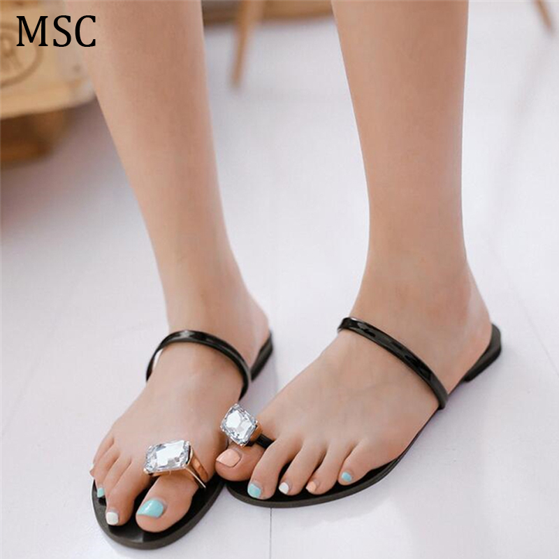 Toe ring sandals women's shoes