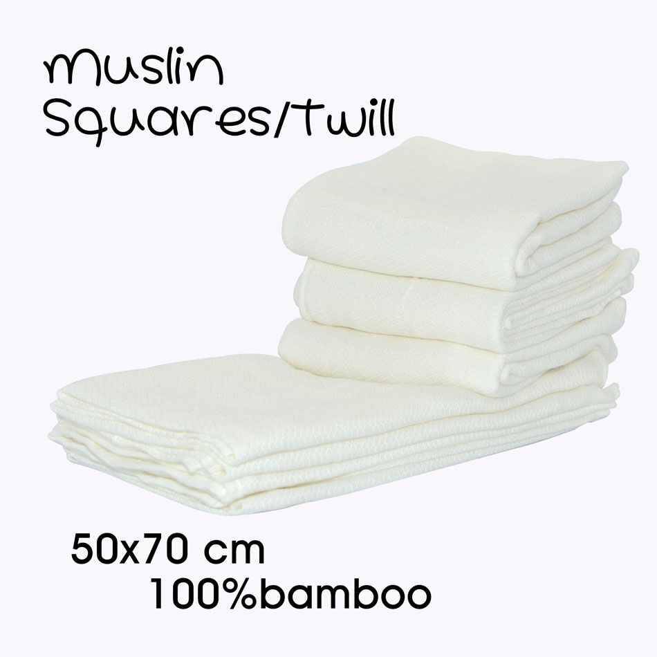 Miababy Muslin Squares Cloth 100% Bamboo For Baby  Reusable Nappy Bibs Wipes Burp Cloth Nappy Liners Baby Feeding Wipes
