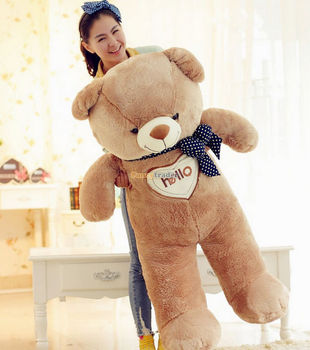 Fancytrader 51'' / 130 cm Giant Hugging Hearting Plush Stuffed Bear Free Shipping, Good Gift for kids and lover 2 Colors FT90098