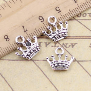 20pcs Charms crown 13x14mm Tibetan Silver Plated Pendants Antique Jewelry Making DIY Handmade Craft