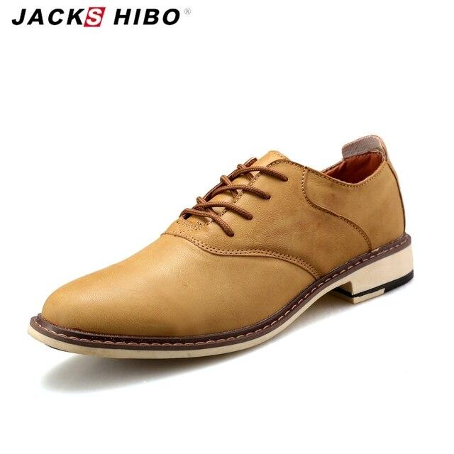 US $38.98 |JACKSHIBO vintage herren lederschuhe, Barock punkt toe uniform schuhe, Britischen casual mann flache schuhe retro 7 7,5 8 8,5 9 9,5 in