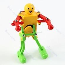 1pc Clockwork Spring Wind Up Dancing Robot Toy Children Kids Gift