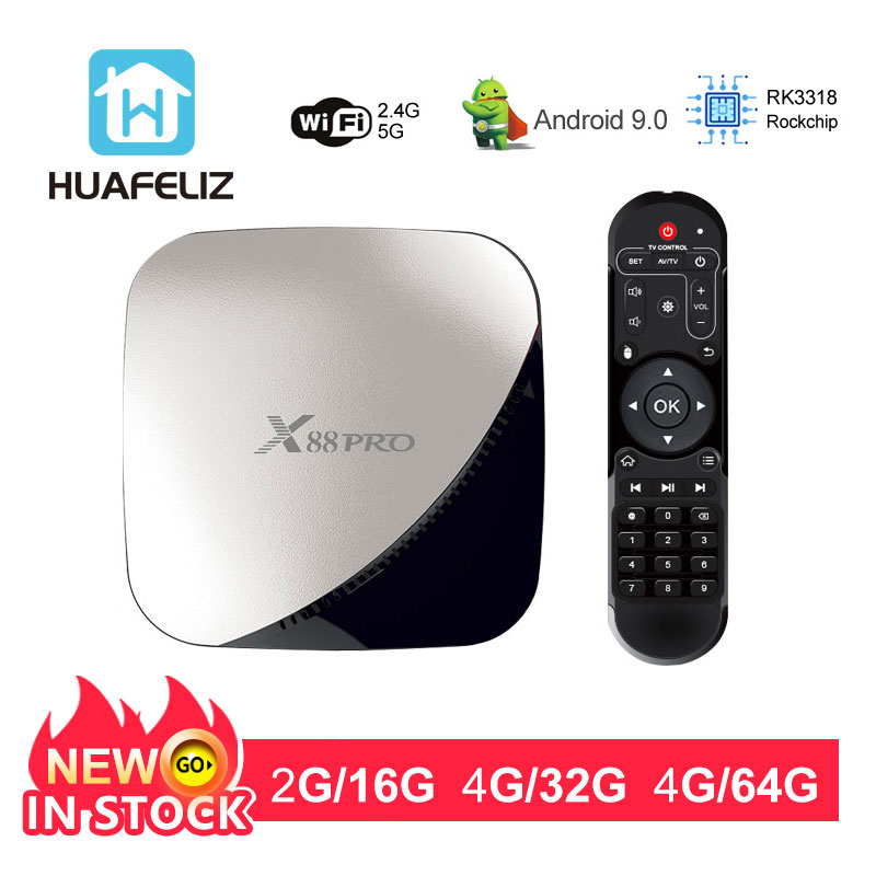 X88 pro Android 9.0 TV BOX 4GB RAM 64GB  Assistant Rockchip RK3318 Quad core 2.4&5G Dual Wifi H.265 Youtube 4K Google PlayerX88 pro Android 9.0 TV BOX 4GB RAM 64GB  Assistant Rockchip RK3318 Quad core 2.4&5G Dual Wifi H.265 Youtube 4K Google Player
