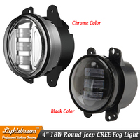 4 Inch Round LED Fog Lights 4inch For Wrangler JK High Power 18W LED Fog Lamp