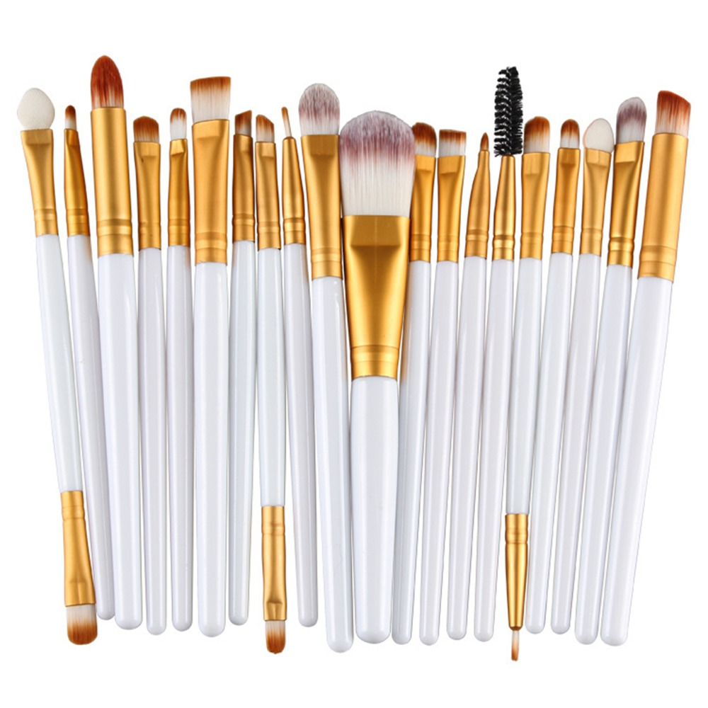 ELECOOL Professional 20Pcs Eye Shadow Contour Brush Kit Eye Make Up Brush Set Full Application Lady Beauty Makeup Brushes Tool shoushoulang w211 professional makeup brush squirrel hair eye shadow brush ebony handle cosmetic tool eye shader make up brush