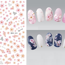Flower Series Nail Water Stickers