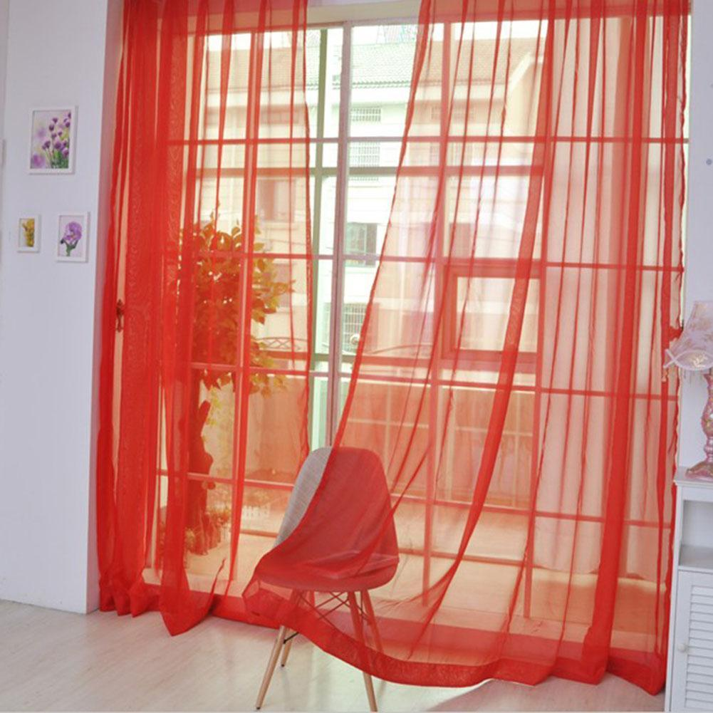 Living room curtains red - 2016 Voile Curtain Transparent Tulle Curtains Window Screening Treatments Living Room Children Bedroom Sheer Curtain Red In Curtains From Home Garden On
