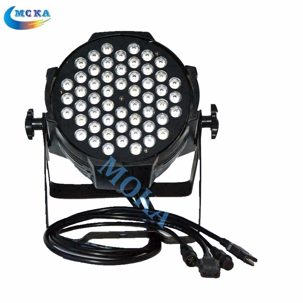 2pcs/lot Professional Stage Lighting 54x3w LED Flat Par Lights Disco Par Can dmx Control for Sale