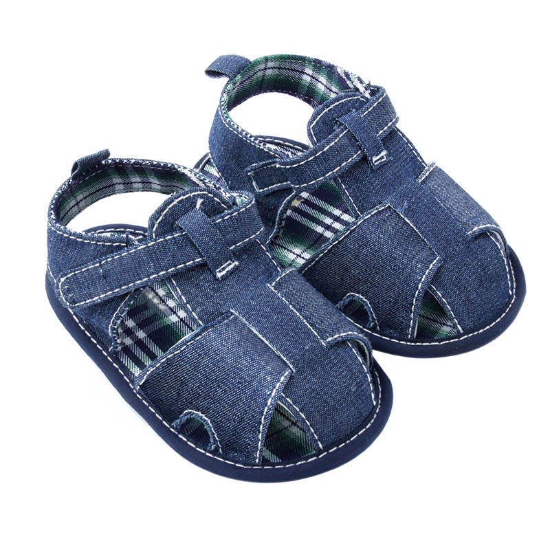 Sommer Baby Boy Girl Hyggelig Bomuld Kids Sko Spædbarn Soft Demin Toddler Shoes Ny
