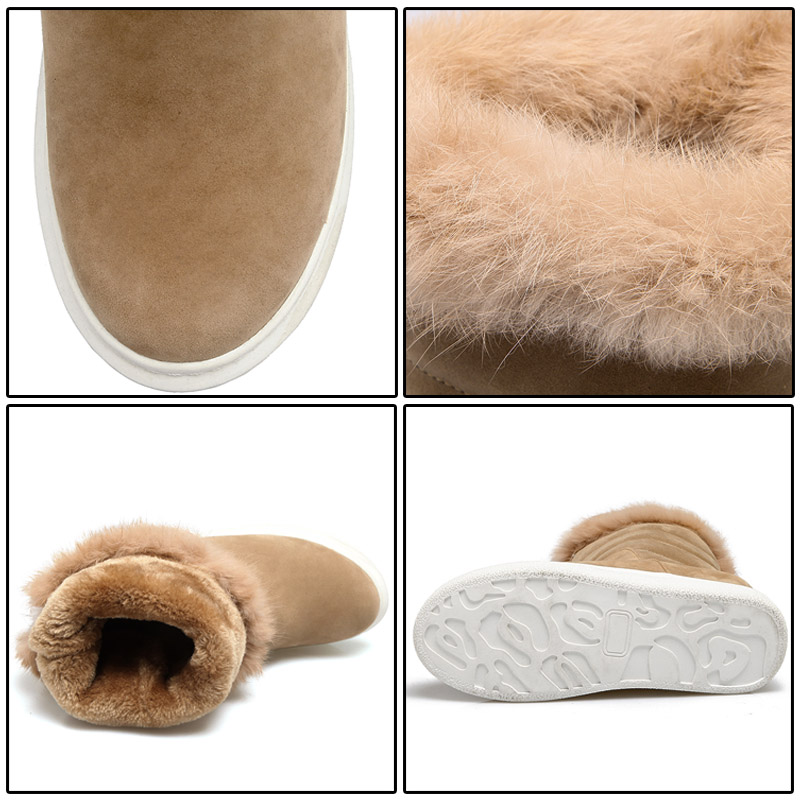 556a3a14 Pie Del China Botas Aumento Invierno Ft289 Apricot Altura Redondo Nueva  Zapatos Phoentin Dedo Interna Nieve ...