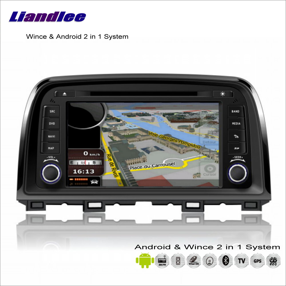 Liandlee Car Android Multimedia Stereo For Mazda 6 / CX-5 2012~2015 - Radio CD DVD Player GPS Navigation Audio Video S160 System rom 16g 2 din android car dvd for mazda cx 5 2012 2013 2014 navigation radio audio gps ipod bluetooth russian menu
