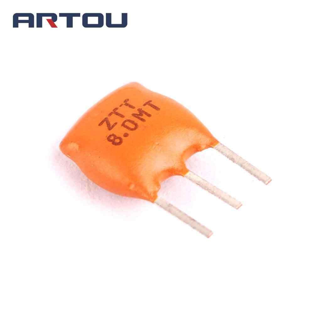 10 шт., ZTT8.00MT, ZTT8.00M, ZTT8, ZTT, 8,000 МГц, 8 МГц, 8,000 М, 8 м, 3P, DIP-3