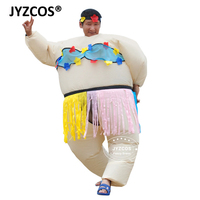 JYZCOS 2018 Pourim Halloween Gonflable Costume Carnaval Cosplay Partie Adulte Gonflable Danse Hawaïenne Costume Drôle Jeu Robe