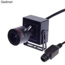 Gadinan Mini ONVIF POE Cámara IP 2MP 1080 P DSP Hi3516C + SC2035 H.264 P2P CCTV Securiy 2.8-12mm Zoom Lente de la Cámara de Red Metálica