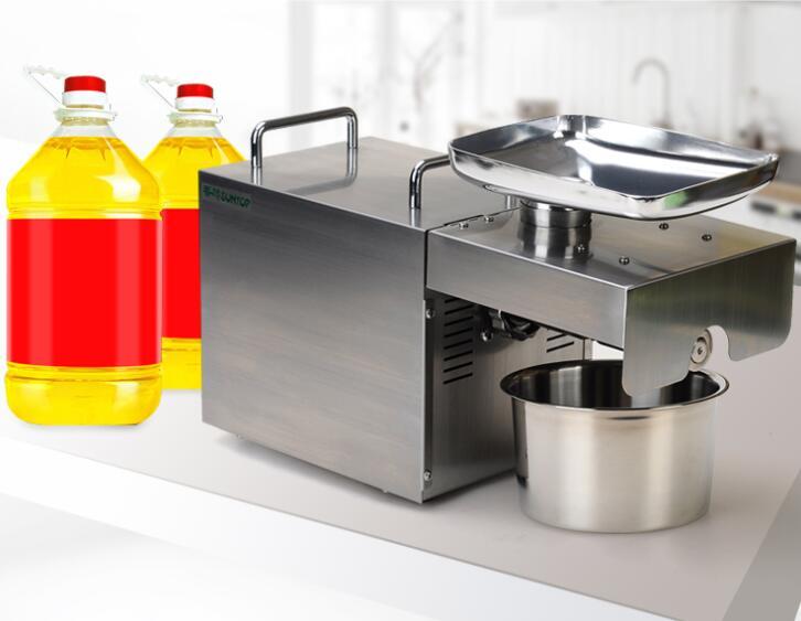 Machine de presse à huile d'acier inoxydable d'appareils de cuisine machine de presse à huile de chanvre de noix de coco de graine de lin