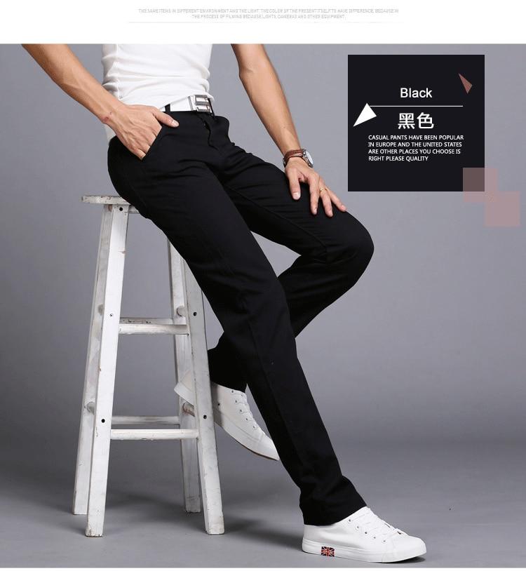 HTB1b960aznuK1RkSmFPq6AuzFXaZ TANGYAXUAN New Design Casual Men pants Cotton Slim Pant Straight Trousers Fashion Business Solid Khaki Black Pants Men 28-38