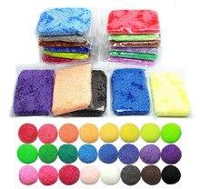 Стороны шпатлевка 24 цветов мягкая полимерная пена снег жемчуг моделирование глинистого раствора пластилин умный пластилин diy детские развивающие игрушки