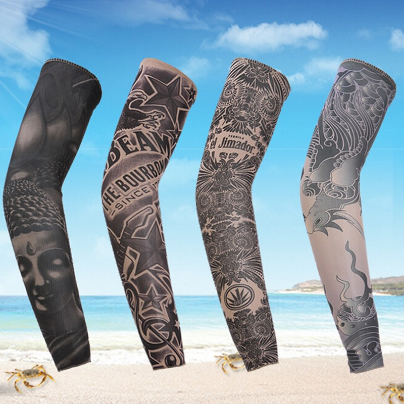 Tattoo Ideas Quick: 1 Piece Arm Sleeve Sun Protection Breathable Tattoo Cuff