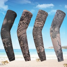 1 pc Arm Sleeve Sun Protection Breathable Tattoo Cuff Quick-dry Running Cycling Arm Warmers Bicycle Golf Sports Oversleeves