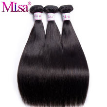 Malaysian Straight Hair Bundles Mi Lisa 1 / 3 Bundle Deals 10-28 Inches Remy Hair Weave Extensions 100% Real Human Hair Bundles(China)