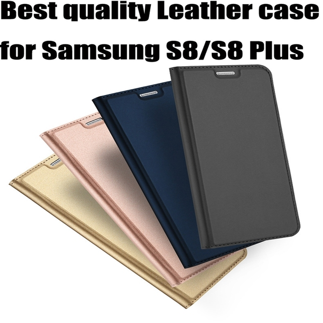 online store cbd35 b6e89 US $56.56 14% OFF|10pcs Best Leather Flip Case For Samsung Galaxy S8 Case  Plus Samsung S8 Case Protective Wallet Phone Cover Galaxy S8 Plus Coque-in  ...