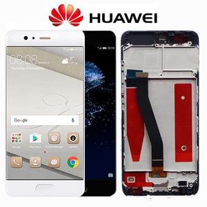 Image 2 - מקורי 5.1 תצוגה עם מסגרת עבור Huawei P10 LCD VTR L10 VTR L29 VTR L09 עם מסך מגע Digitizer עצרת Replacment