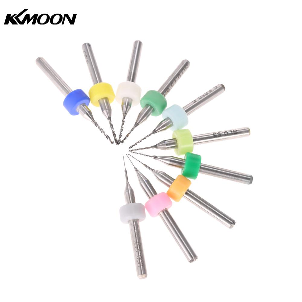 10pcs drill bit set Tungsten Carbide Micro drill bit Set Engraving Tools hand drill tools for PCB Circuit Board 0.25-1.05mm jelbo cone step drill hole tools countersink 3pc drill bit set power tools step drill bit for metal power tools set hole cutter