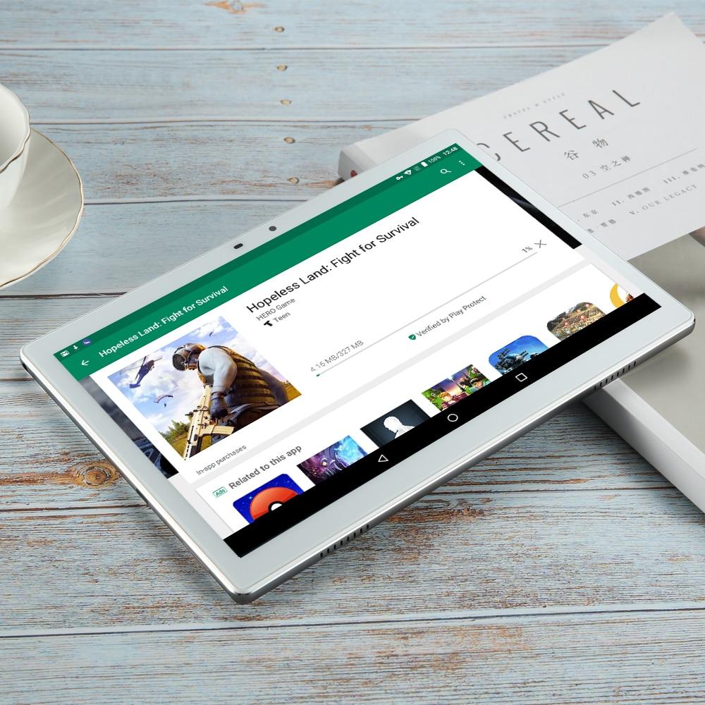 ram 256g Tablet 256G גלובל 3G WIFI ים Bluetooth Android 7.0 10 אינץ Tablet 10 Deca Core Helio X27 8GB RAM 256GB ROM 2.5D טבליות מסך (2)