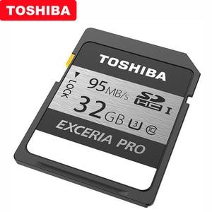 Image 3 - 100% Originale Toshiba exceria pro N401 SD flash card scheda di memoria SD UHS I U3 32GB 64GB 128GB class10 4K Ultra HD SDHC SDXC